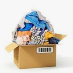 Box of women's size small and medium clothing